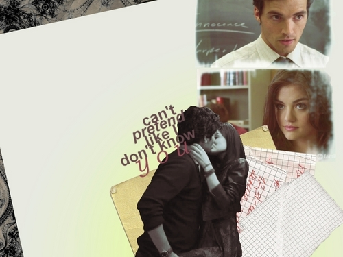 Ezra & Aria wallpaper containing a sign called ezra and aria<333