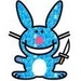 happy evil bunny - evil icon