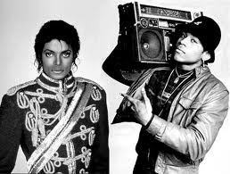 michael jackson and some guy with a boom box xD