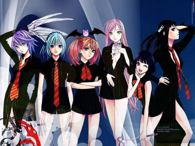 rosario vampire wallpaper. Rosario Vampire Wallpaper