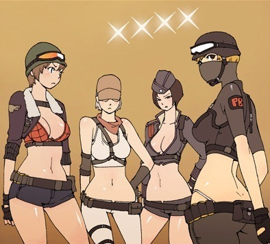 point blank gilrs(anime version)