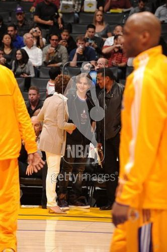 prince @ lakers game