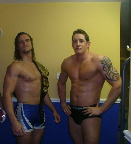 Wade Barrett वॉलपेपर containing a hunk, a six pack, and swimming trunks titled wade and drew tean