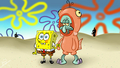 ...In a Salmon Suit - spongebob-squarepants wallpaper