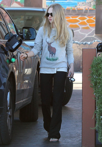 Amanda leaving a Hair Salon in West Hollywood (January 27 2011).