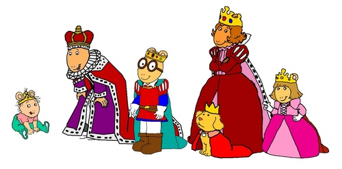Arthur and his family - Royalty