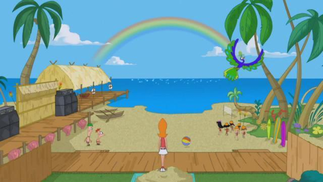 phineas and ferb backyard beach revealed beautiful pic