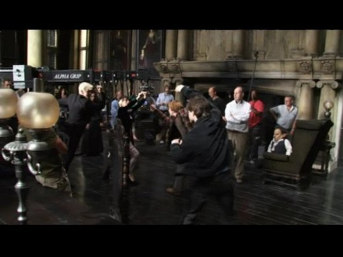 Behind the Scenes foto of Tom Felton in Deathly Hallows Malfoy manor scene