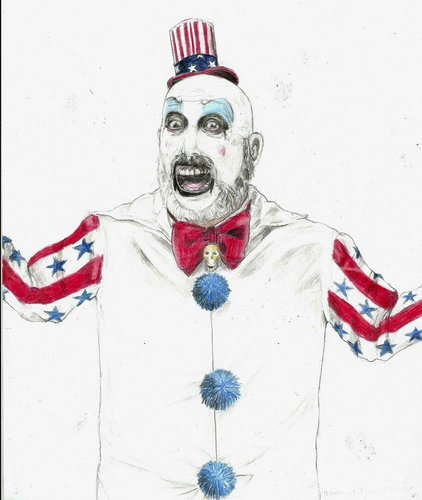 Drawing वॉलपेपर entitled Captain Spaulding