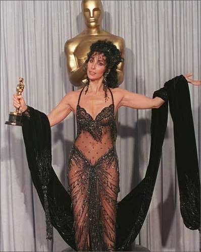 Cher پیپر وال titled Cher wins an Academy Award (1988)