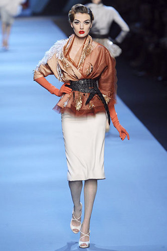 Dior wallpaper possibly with a hip boot, an outerwear, and a garment called Christian Dior Spring 2011 Couture