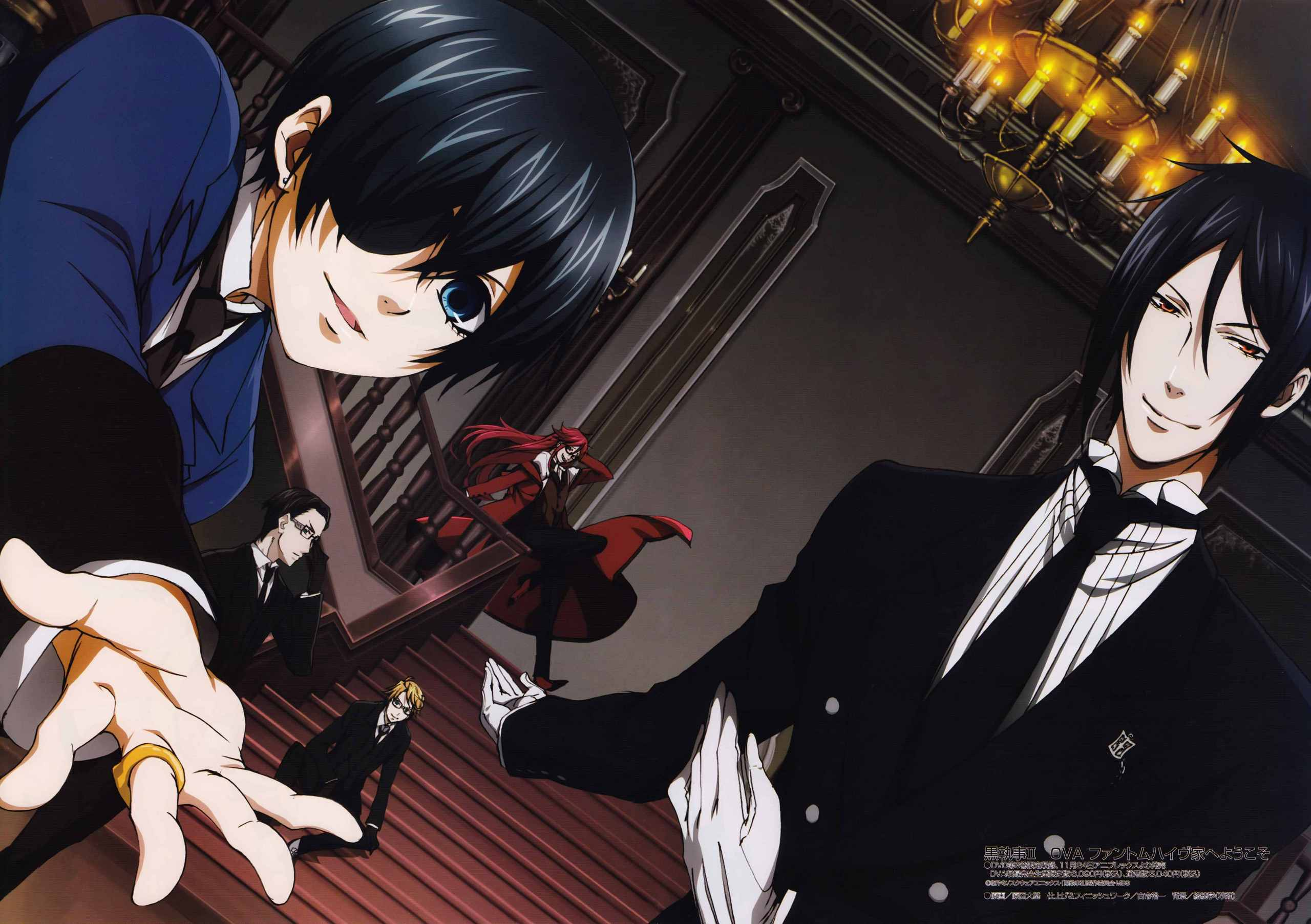 Kuroshitsuji (Black Butler) images Ciel,his butler and others HD wallpaper and background photos