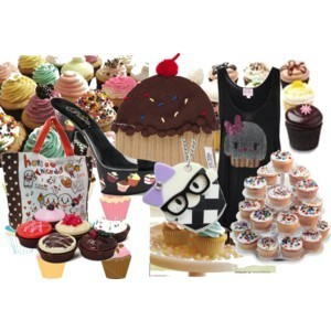 Cupcakes wallpaper with a cupcake, a frosted layer cake, and pancakes entitled Cupcake Fashion