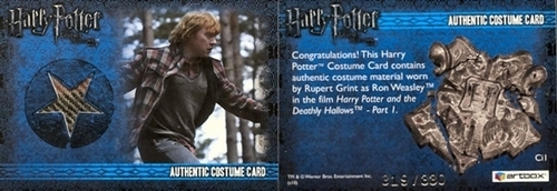 Rupert Grint wallpaper probably containing anime entitled DH trading cards