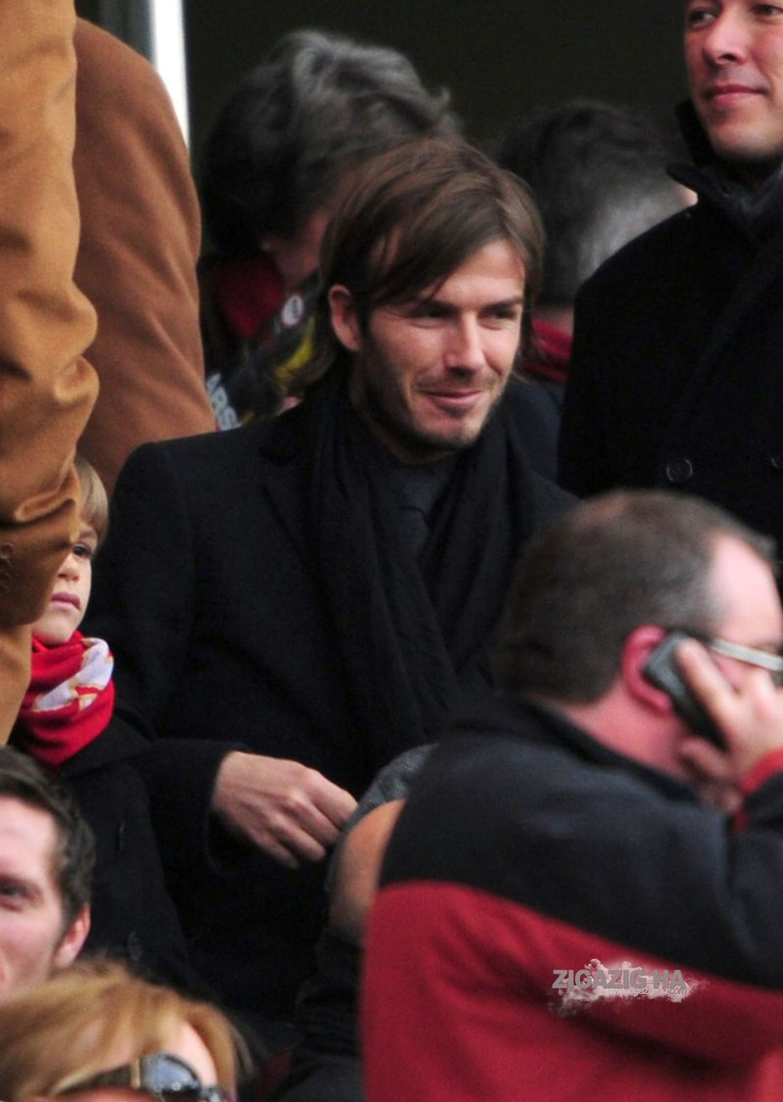 David Beckham Watch a game on