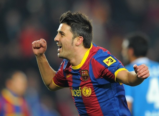celebration David Villa FC Barcelona  onlyhdwallpaperscom