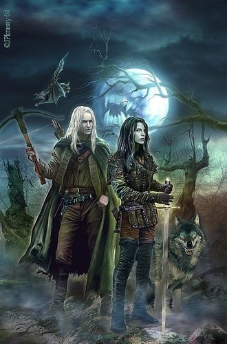 Dhampir Czech Cover Picture Magiere, Leesil and Chap