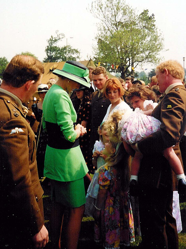 Princess Diana achtergrond probably with a green beret, baret titled Diana Princess of Wales