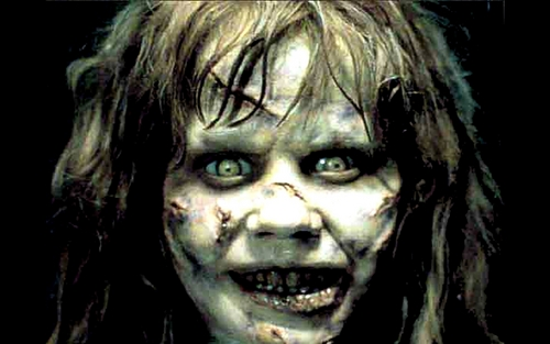 Horror films achtergrond called Exorcist