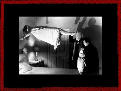 film horror wallpaper possibly with a televisi receiver entitled Exorcist