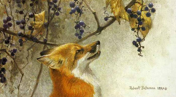 Fable: The fuchs and the Grapes