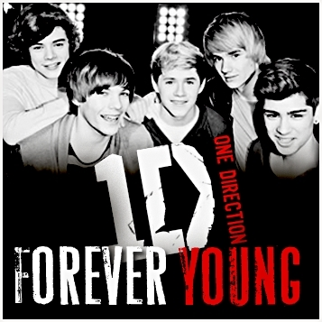 One Direction wallpaper with anime titled Forever young cover <3