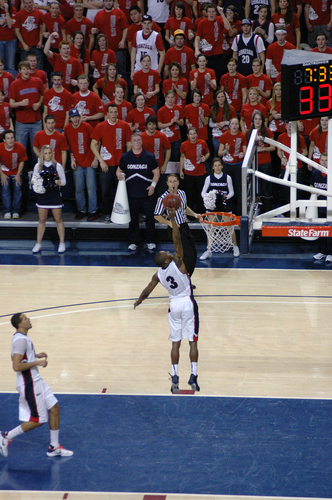 Gonzaga basketbal achtergrond possibly containing a basketbal player called GU vs Pepperdine