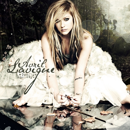 Avril Lavigne wallpaper possibly containing a portrait entitled Goodbye Lullaby [FanMade Album Cover]