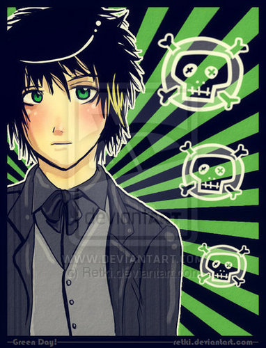 Green দিন Chibis/Cartoons/Comics :3