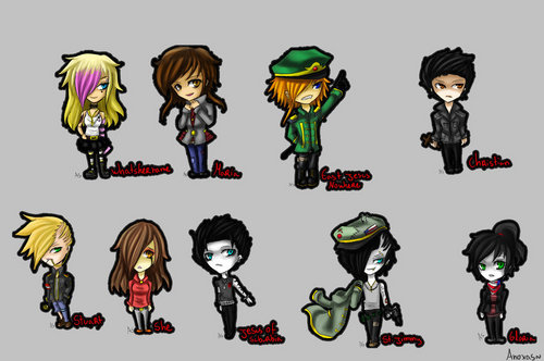 Green Day-related chibis