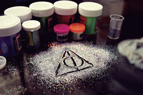 Sign of the deathly hallows :))