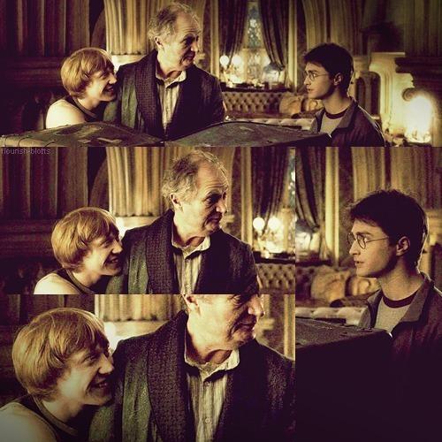 Slughorn, Harry & Ron :))