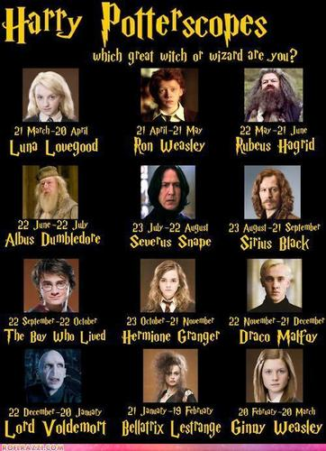 Harry Potter Zodiac tử vi