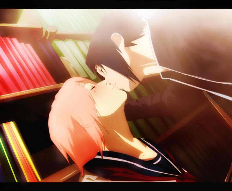 SasuSaku High school kiss