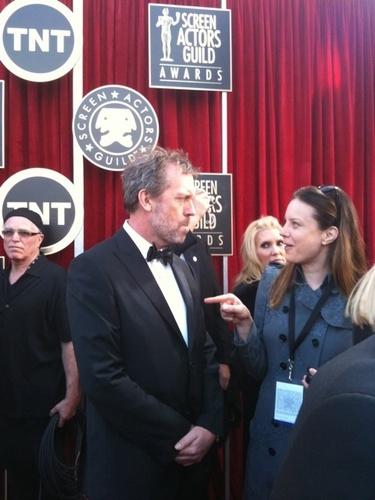 Hugh at the SAG Awards 2011 - Red Carpet
