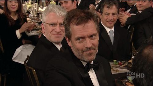 Hugh & Lisa wallpaper probably containing a business suit and a brasserie entitled Hugh at the SAG Awards 2011