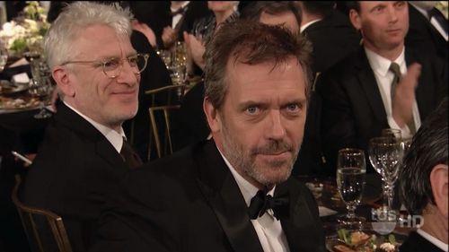 Hugh at the SAG Awards 2011 - hugh-and-lisa Screencap