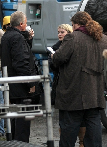 "Jorge on the set of ""Alcatraz"" in Vancouver - January 26- 2011"