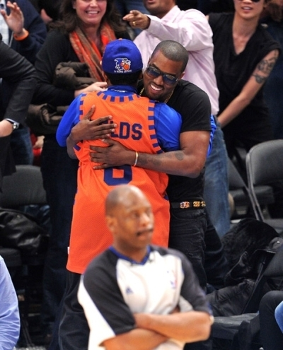 Kanye @ Knick's game Jan. 27th
