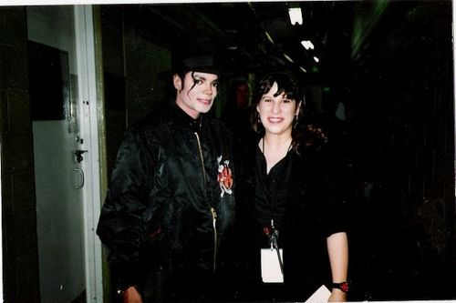 Lisa Dalton and Michael Jackson backstage at RN1814 Tour