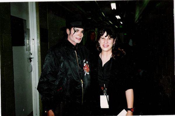 Lisa Dalton and Michael Jackson backstage at RN1814 Tour