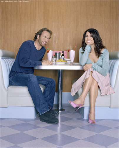 parejas de la televisión fondo de pantalla called Luke and Lorelai