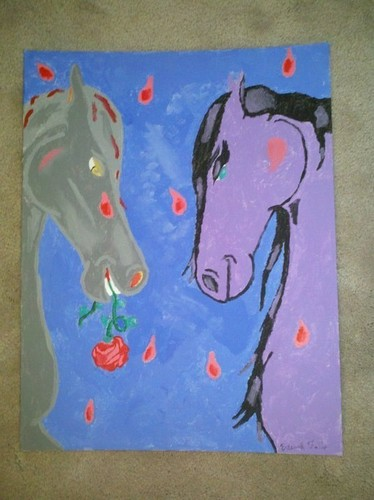 MY paiting of fairytale horse love