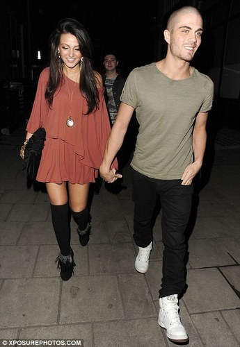 The Wanted वॉलपेपर probably containing hosiery, bare legs, and a hip boot called Max George & Michelle Keegan Enjoy Nite Out In Camden North लंडन (Maxchelle) 100% Real :) x