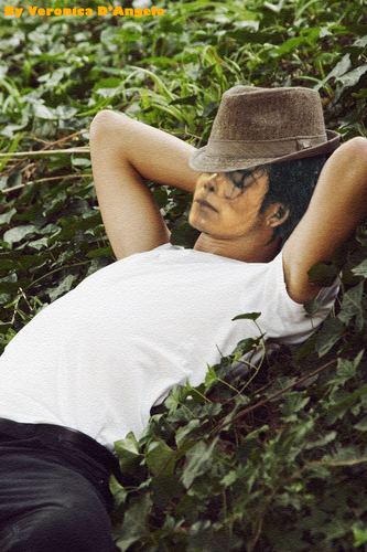 Michael Jackson wallpaper probably with a boater and a fedora entitled My Photoshop Of Michael