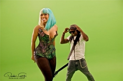 Nicki Minaj wallpaper titled Nicki - Behind The Scenes of 'Knockout'