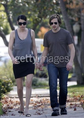 Paget with her boyfriend(?)