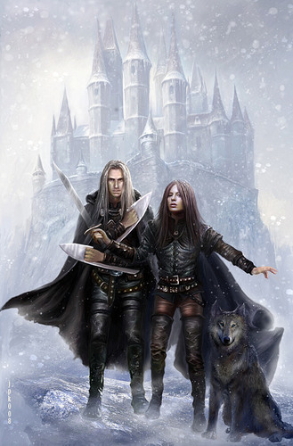 Rebel Fay Czech Cover picture Magiere, Leesil and Chap