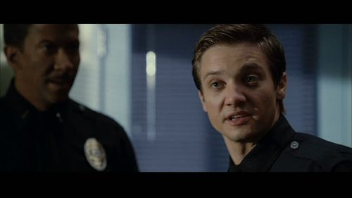 Jeremy Renner wallpaper probably containing a television receiver and a high definition television called S.W.A.T.