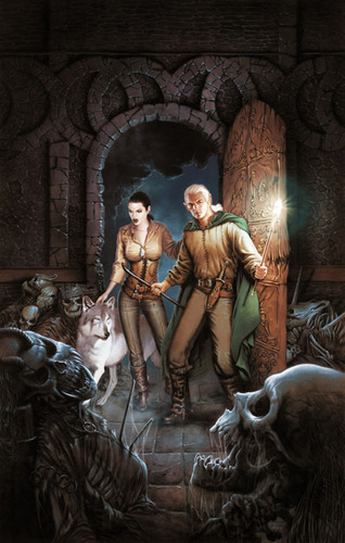 Sister of the Dead US Cover picture Magiere, Leesil and Chap